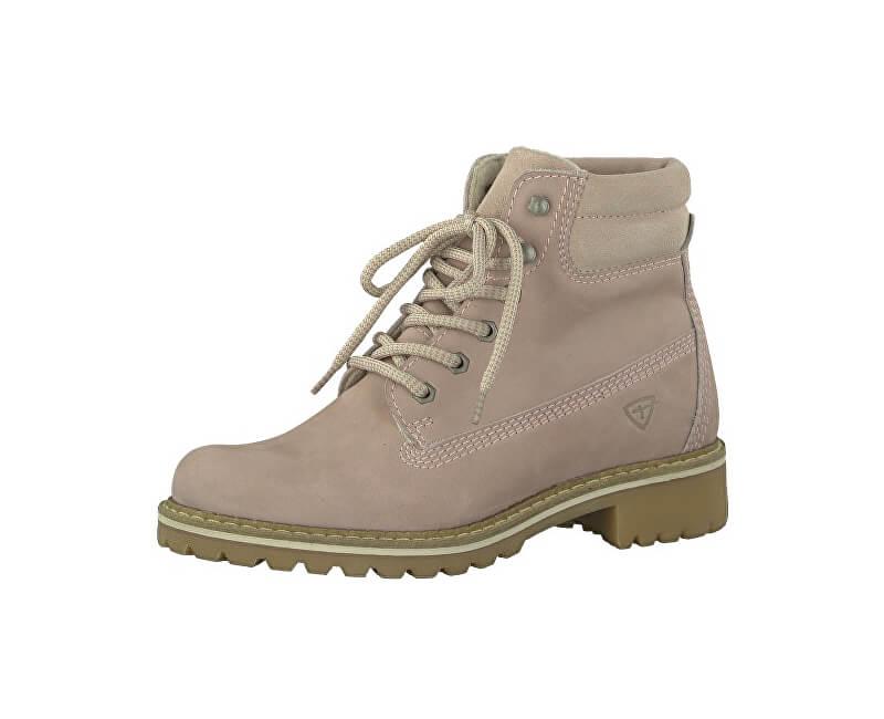 Tamaris Elegantní dámské kotníkové boty 1-1-25242-29-586 Lt.Pink Nubuc