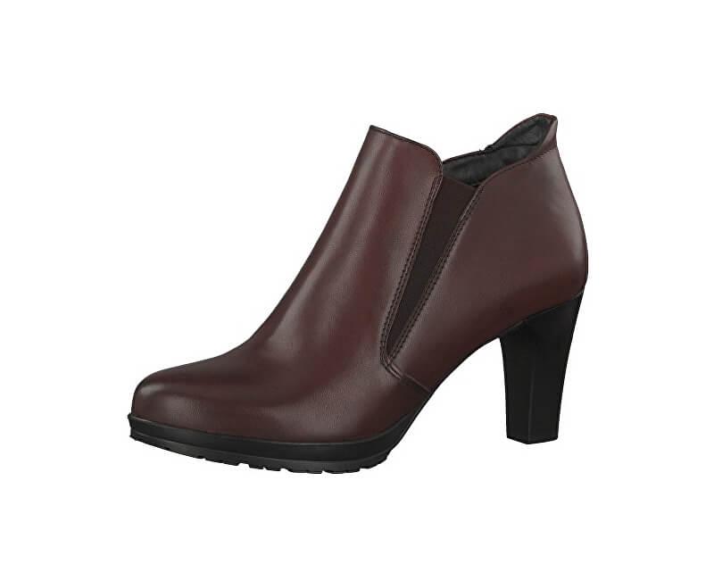 8179a3ee9c9 Tamaris Elegantné dámske členkové topánky 1-1-25395-29-549 Bordeaux ...