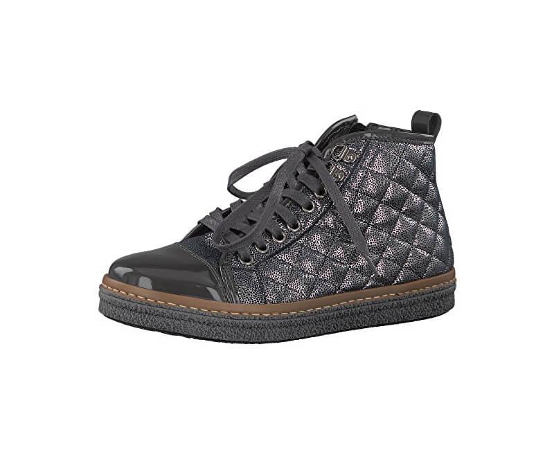Tamaris Elegantní dámské kotníkové boty 1-1-25725-39-234 Anthracite Com