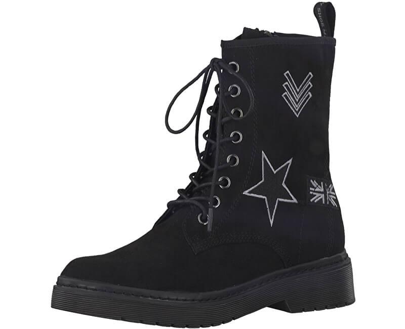 Tamaris Elegantní dámské kotníkové boty 1-1-25731-39-001 Black