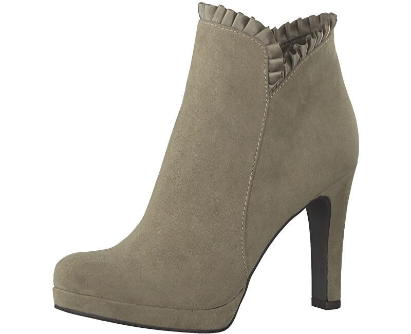 Tamaris Elegantní dámské kotníkové boty 1-1-25984-39-324 Pepper