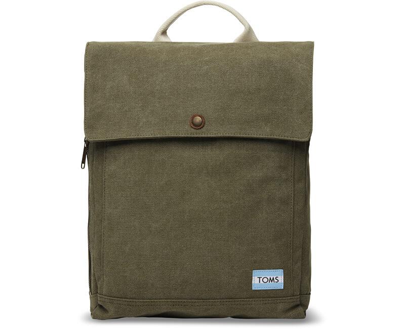 TOMS Batoh Olive Canvas Backpack