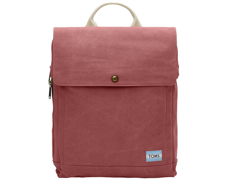 TOMS Batoh Red Canvas Backpack