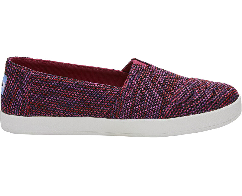TOMS Dámské Slip-on Blk Plum Multiclr Knit Avalon