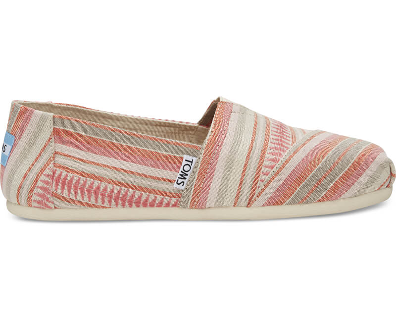 TOMS Femeile Slip-On Coral Blanket Stripe Seasonal Classics Alpargatas