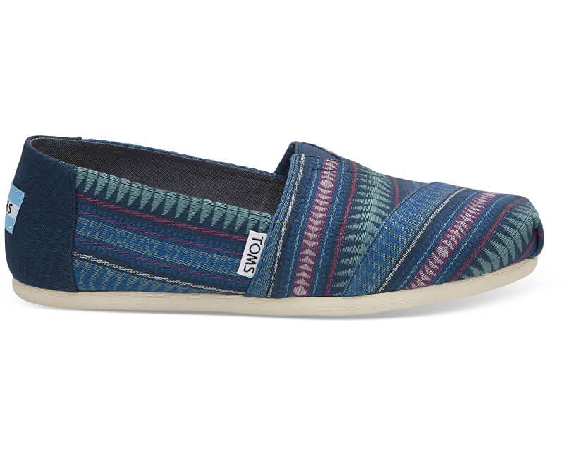TOMS Femeile albastru Slip-On Cobalt Tribal Woven Seasonal Classic s Alpargatas