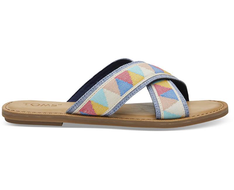TOMS Dámské pantofle Multi Tribal Viv