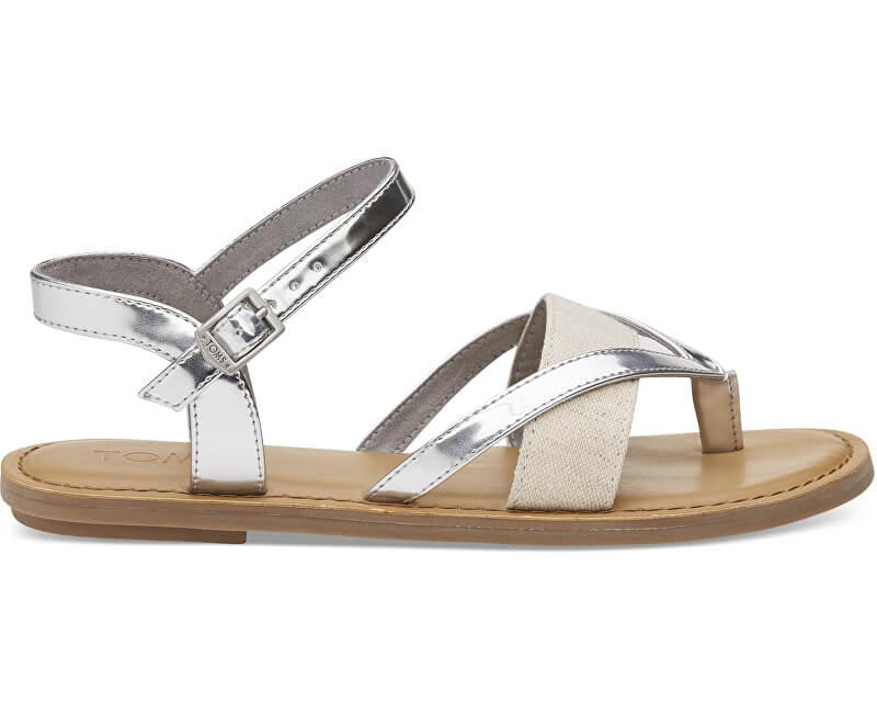 TOMS Dámské sandále Silver Specchio/Hemp Lexie