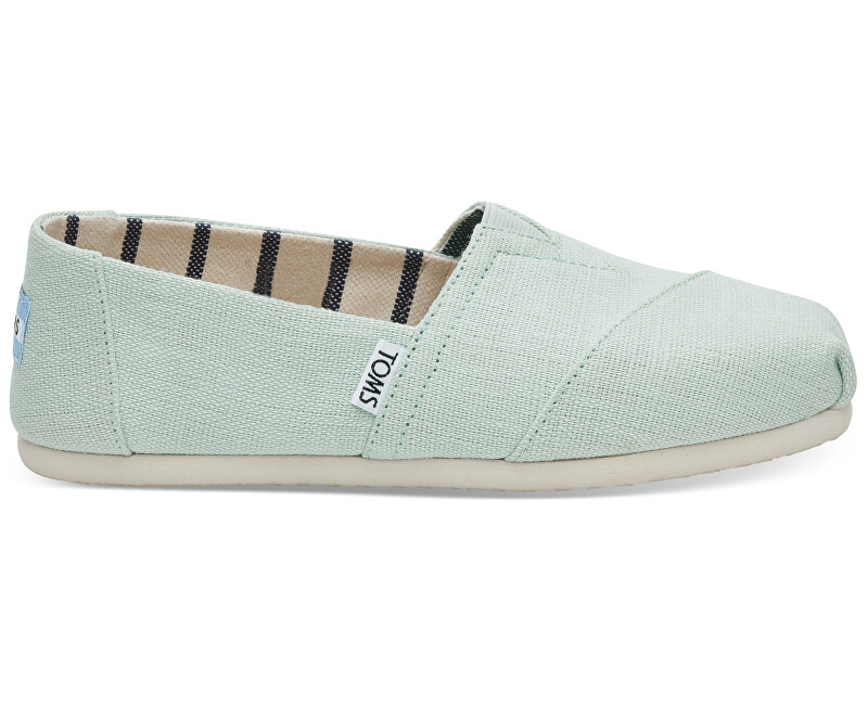 TOMS Dámské Slip-On Aqua Glass Heritage Canvas Alpargata