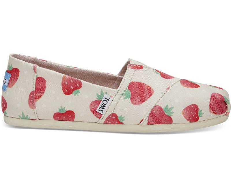 TOMS Dámské Slip-On Birch Strawberry and Cream Alpargata