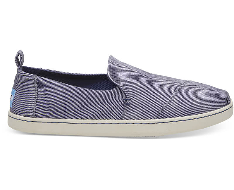 88a92d331bbf TOMS Dámske Slip-on State Blue Washed Twill Deconstructed Alpargata