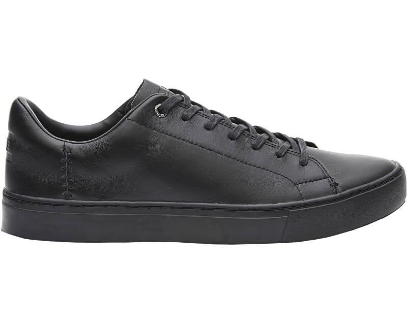 TOMS Pánské černé tenisky Back Black Leather Lenox Doprava ZDARMA ... d44a003153