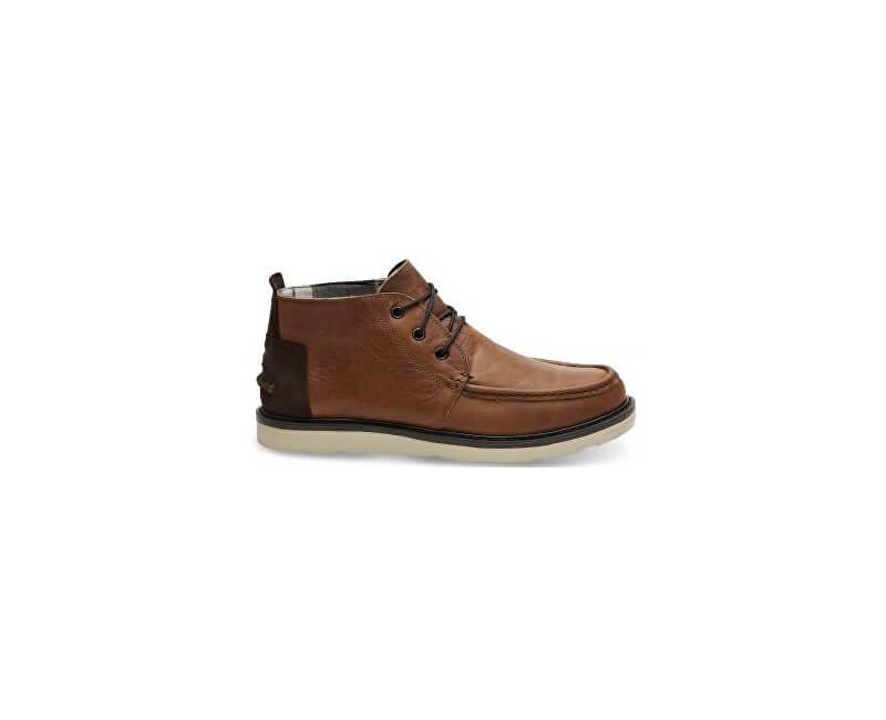 TOMS Pánské hnědé boty Wp Brown Pull Leather Chukka
