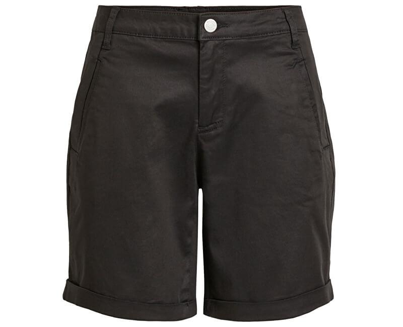 Vila Dámske kraťasy Chino Rwre New Shorts-Noos Black