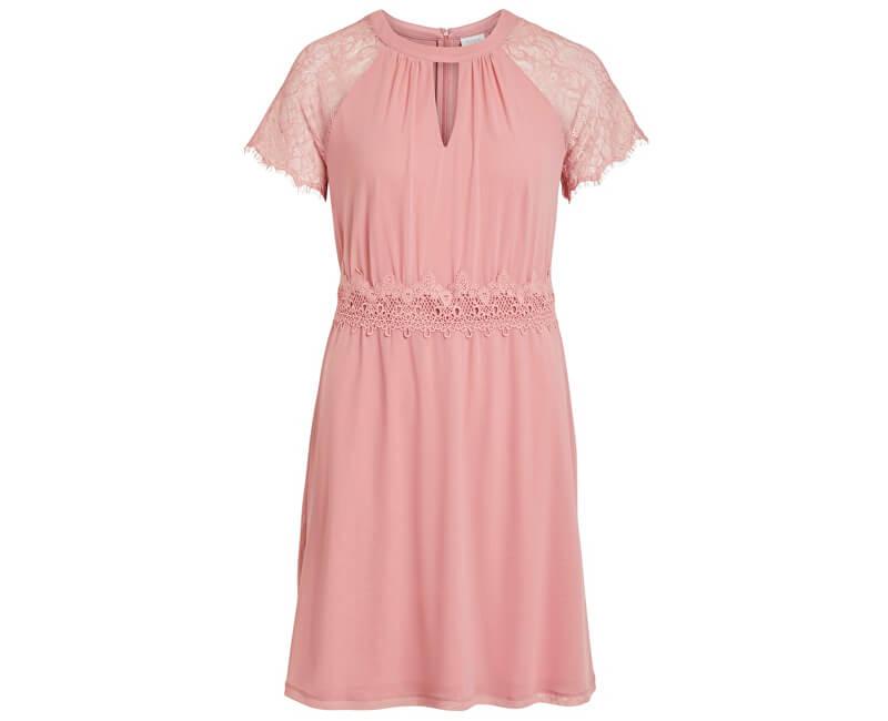 Vila Dámske šaty Vifinnea S/S Dress/Dc Brandied Apricot