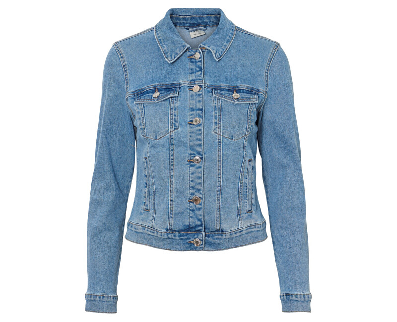 Vero Moda Dámská bunda Hot Soya Ls Denim Jacket Mix Noos Light Denim Blue