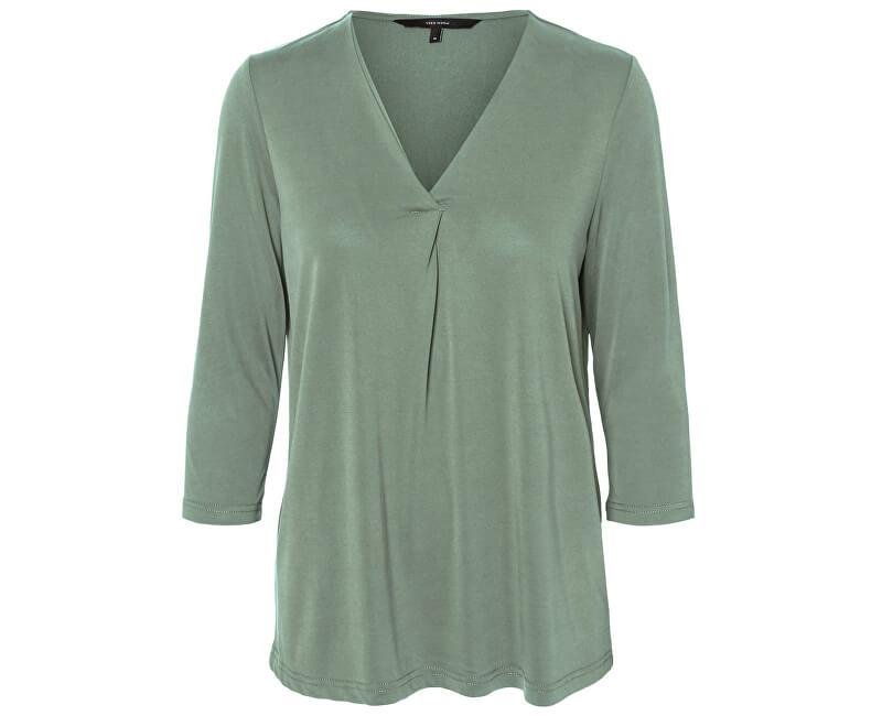 Vero Moda Bluza pentru femei VMKATIE 3/4 TOP JRS GA Hedge Green