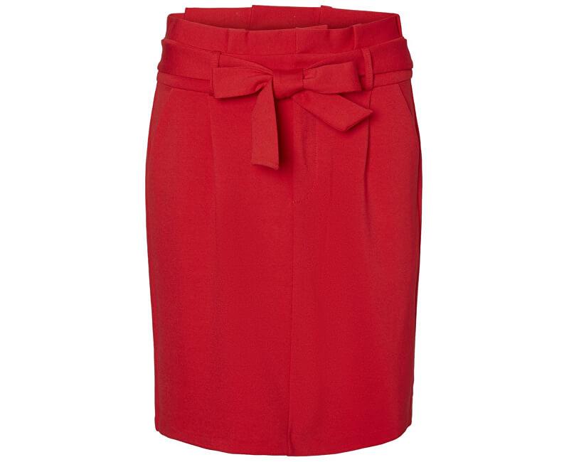 Vero Moda Dámska sukňa Eva HR Paperbag Short Skirt Color Chinese Red