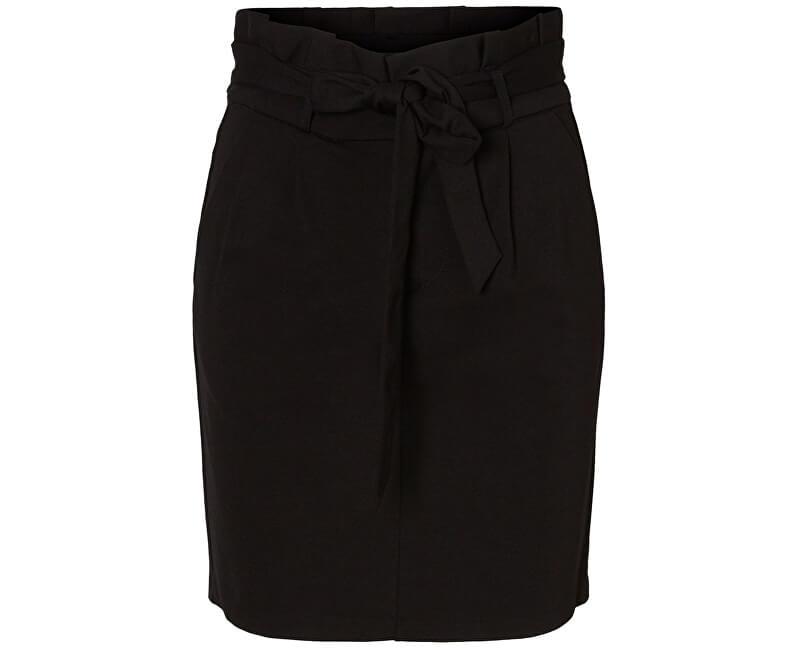 Vero Moda Dámska sukňa Eva HR Paperbag Short Skirt Noos Kl Black