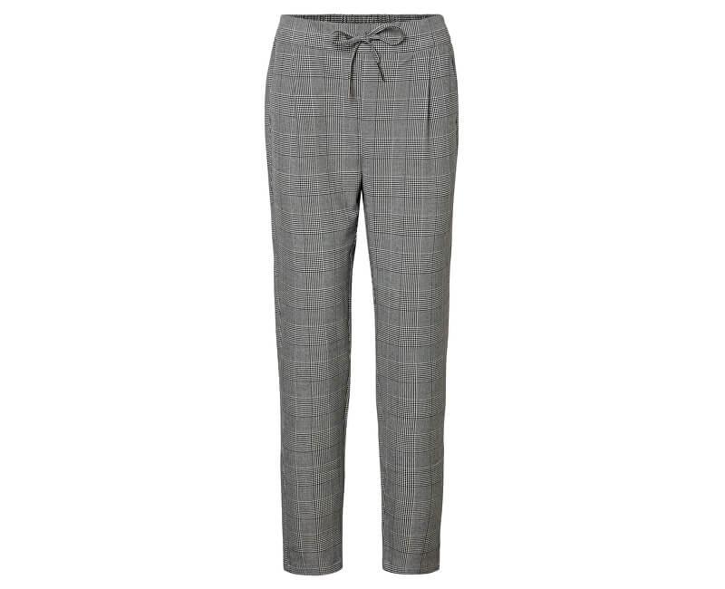 Vero Moda Pantaloni pentru femei VMEVA MR LOOSE STRING CHECKED PANTS NOOS Grey/White