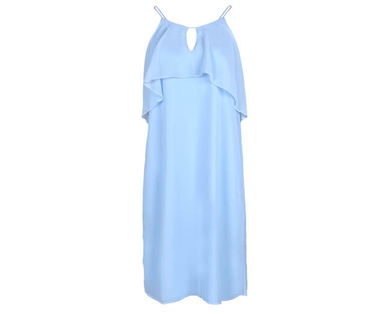 Vero Moda Dámske šaty Alba S/L Abk Dress Wvn Cool Blue