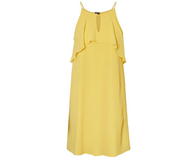 Vero Moda Dámske šaty Alba S/L Abk Dress Wvn Yarrow
