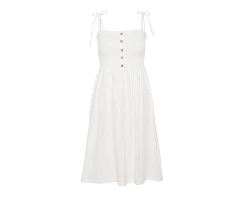 Vero Moda Dámske šaty Aria Sl Blk Dress Snow White