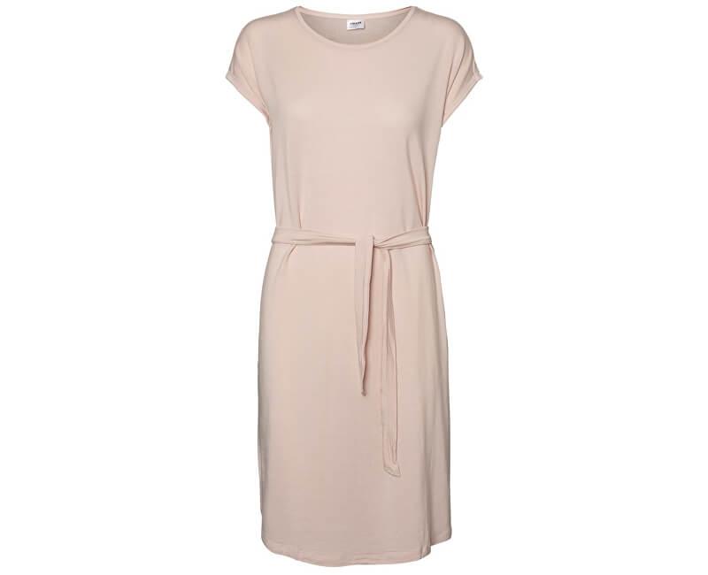 Vero Moda Dámske šaty Ava Plain Ss Knee Dress Vma Sepia Rose