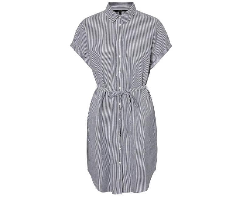3a0870968 Vero Moda ZĽAVA - Dámske šaty Jane Sl Hab Shirt Dress Wvn Ki Snow White  Night ...