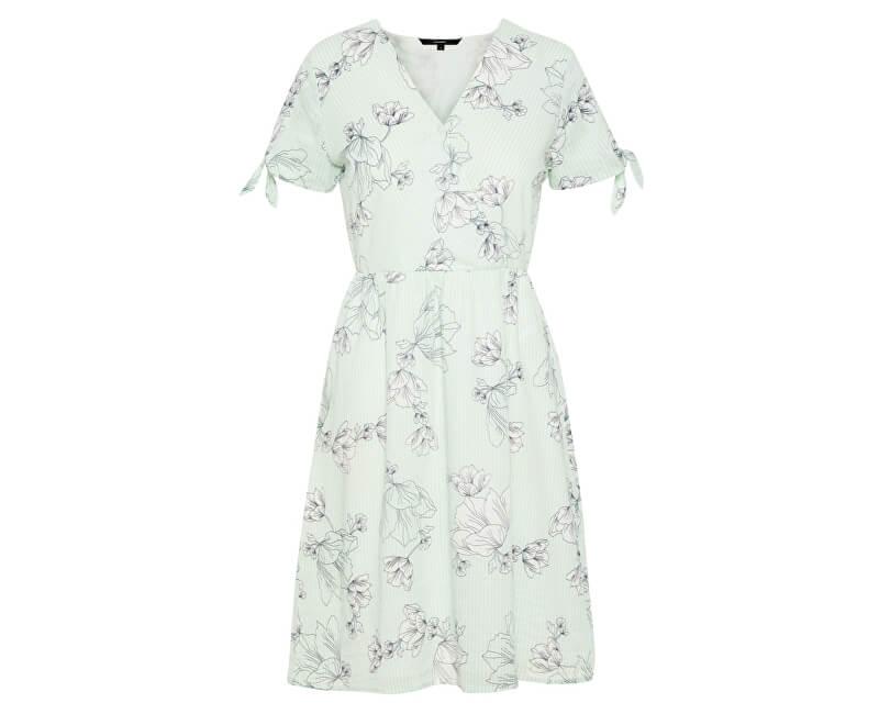 Vero Moda Dámske šaty Sally Ss Hab Dress Wvn Bok Choy