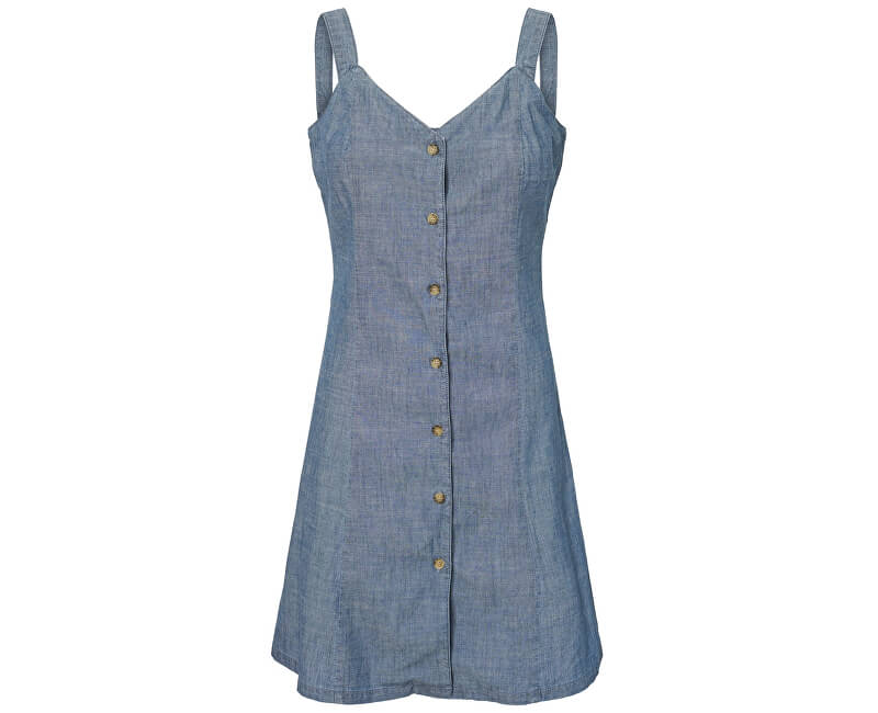 Vero Moda Dámske šaty Samantha Chamb Shirt Button Dress Ga Dark Blue Denim