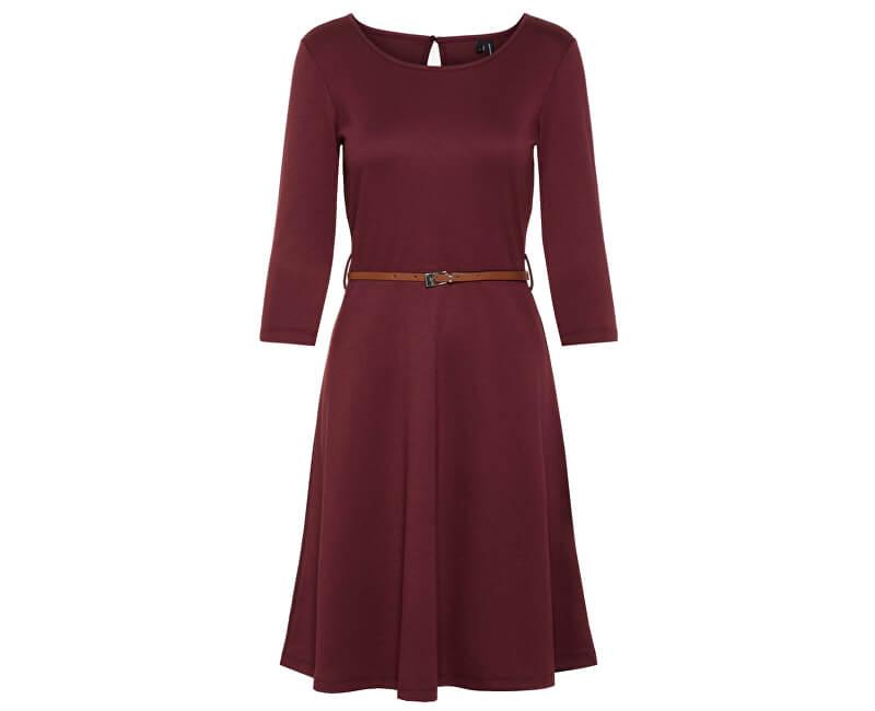 Vero Moda Rochie pentru femei VMVIGGA FLAIR 3/4 SLEEVE DRESS Port Royale