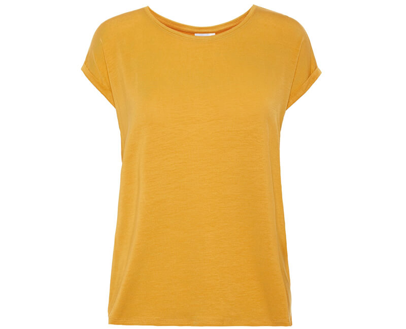 Vero Moda Dámske tričko Ava Plain Ss Top Ga Noos Amber Gold
