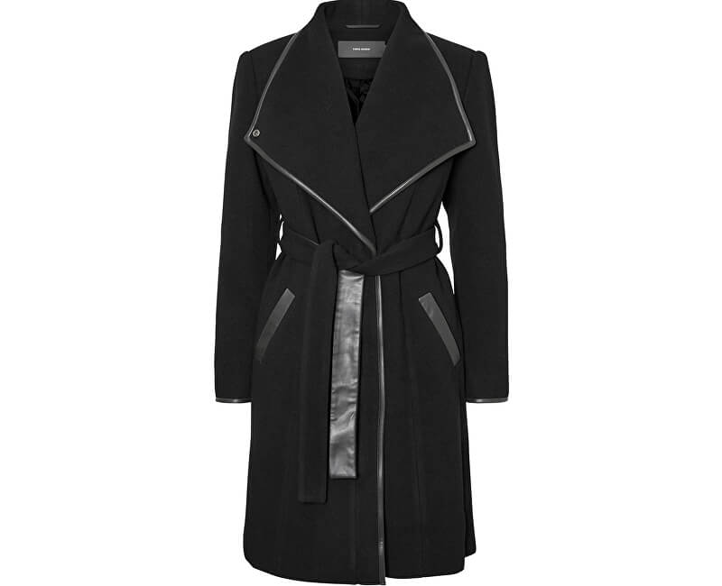 Vero Moda Dámský kabát Waterfall Class 3/4 Wool Jacket Black