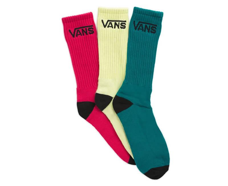 VANS Balení 3ks ponožek Classic Crew Sunny Lime VN000XSETCY1
