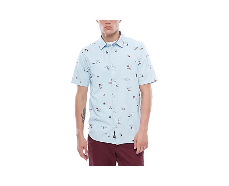 VANS Pánska košeľa Tres Palmas SS Baby Blue Tres Palmas VA3711PF7