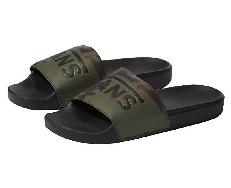 03995f8683 VANS Pánske šľapky Slide -On (Camo) Black Green