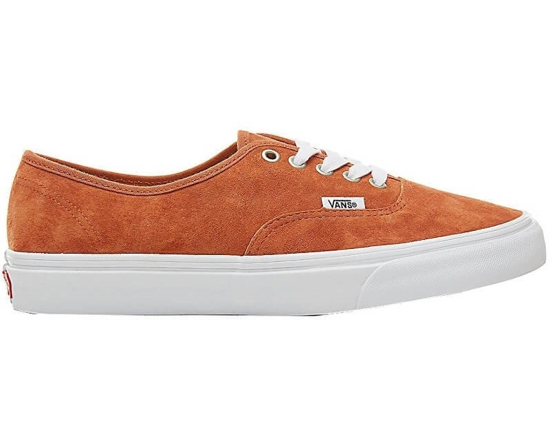 ccee33ba485f9a VANS Pánské tenisky UA Authentic Pig Suede Leather Brown True White  VA38EMU5K ...
