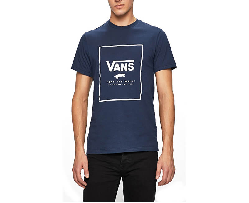VANS Pánské triko Print Box Dress Blues/White VN0A312S5S21