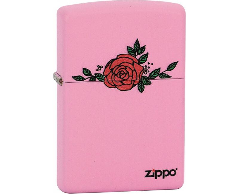Zippo Benzínový zapalovač Zippo Regular Pink Matte 26385