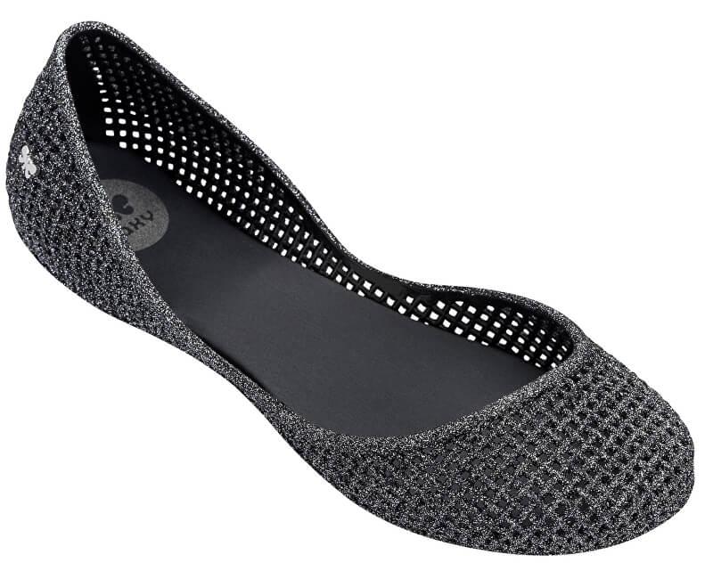 Zaxy Dámske baleríny Amora Fem 81982-53234 Black/Glitter Silver
