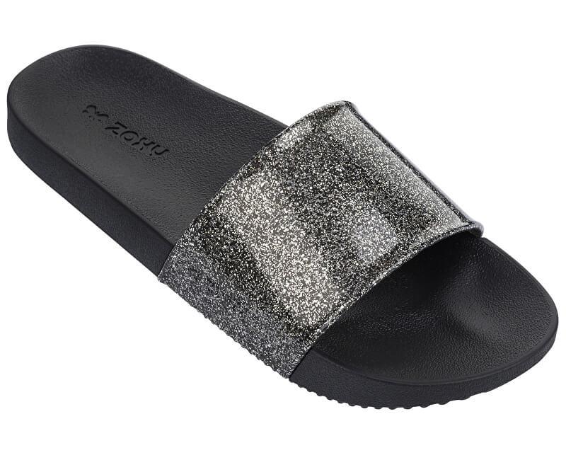 Zaxy Dámské pantofle Snap Slide Glitter Fem 82440-90288 Glitter Black