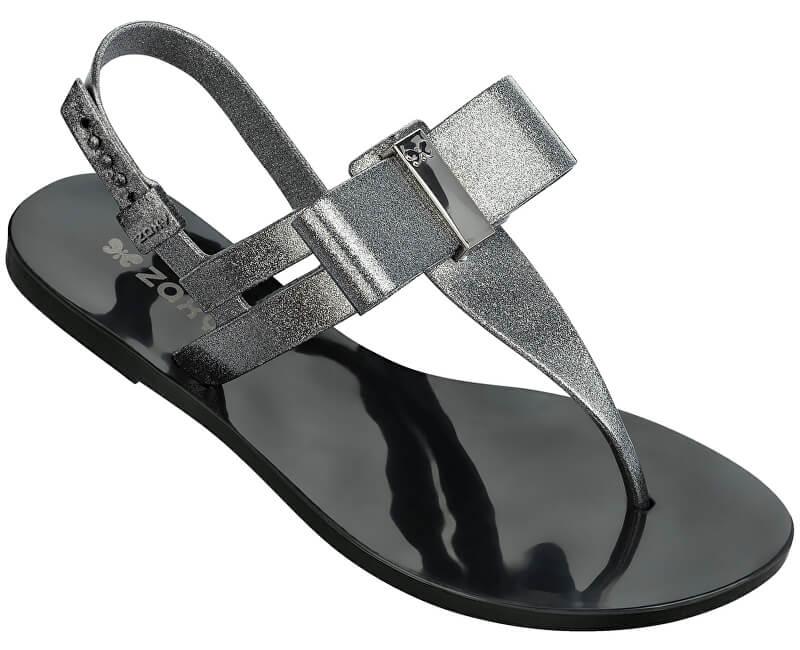 Zaxy Dámske sandále Glaze Sandal Fem 17201-90288 Glitter Black ... 3cce0eecf7