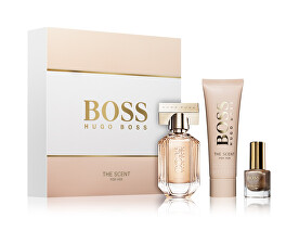 Boss The Scent For Her - EDP 30 ml + tělové mléko 50 ml + lak na nehty 4,5 ml