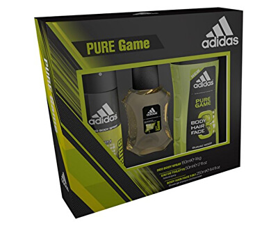 Adidas Pure Game - EDT 100 ml + deodorant ve spreji 150 ml + sprchový gel 250 ml