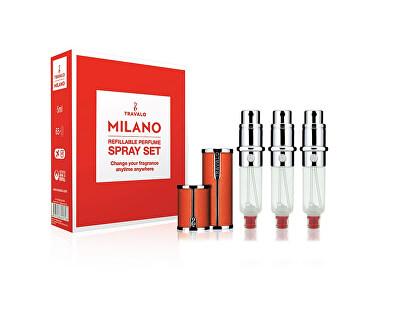 Milano - plnitelný flakon 3 x 5 ml (oranžový)