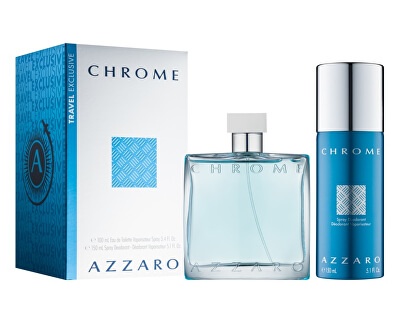 Chrome - EDT 100 ml + deodorant ve spreji 150 ml