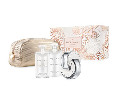 Omnia Crystalline - EDT 65 ml + sprchový gel 75 ml + tělové mléko 75 ml + kosmetická taštička