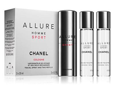 Allure Homme Sport Cologne - EDC 20 ml (plnitelný flakon) + náplň 2 x 20 ml