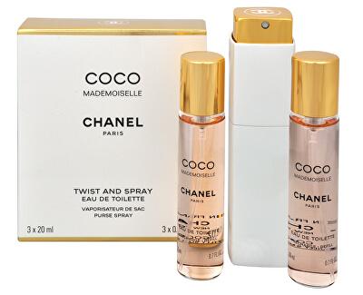 Coco Mademoiselle - EDT 20 ml (plnitelný flakon) + EDT náplň 2 x 20 ml